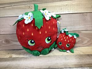 "SHOPKINS STRAWBERRY KISS - Set of 2 - Large 16"" NWT & Small 8"" Pillow Plush Stuffed Toy Lot for Sale in Westminster, CO"