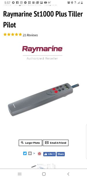 Raymarine st1000+ also st2000+ tiller autopilot for Sale in Miami Gardens, FL