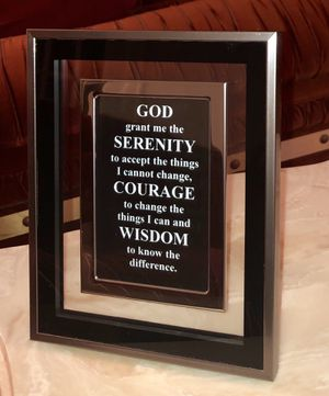 Framed Serenity Prayer for Sale in Detroit, MI
