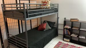 Bunk bed/ 2 twins mattress/leather sofa/ for Sale in Miami Beach, FL