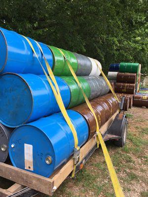 Closed barrels 55 gallon for Sale in Buda, TX