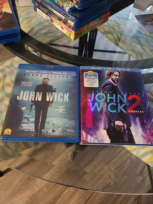 John Wick blu rays 1&2 for Sale in Lacey, WA