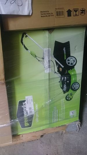 """Greenworks lawn mower 20"""" 3 in 1 12A for $100 or buy the whole pallet for $425 all items new in box for Sale in Granite City, IL"""
