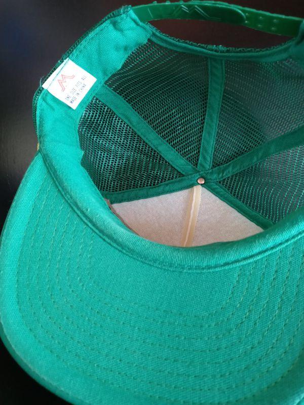 Vintage Green White McDaniel IMPL. CO. INC. New Firepower Socorro New Mexico John Deere Tractor Trucker Hat