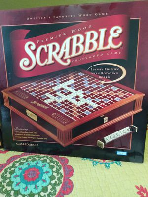 Scrabble Premium Wood Edition Game Set for Sale in Myakka City, FL