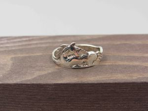 Size 7 Sterling Silver Unique Unicorn Band Ring Vintage Statement Engagement Wedding Promise Anniversary Bridal Cocktail Friendship for Sale in Lynnwood, WA