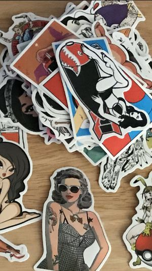 Stickers mix lot of 50 stickers all different no repeats good quality thick stickers and gloss for Sale in Vernon, CA
