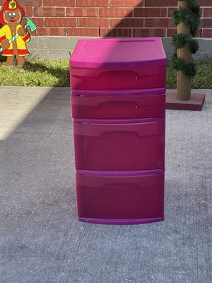 Pink plastic storage for Sale in Houston, TX