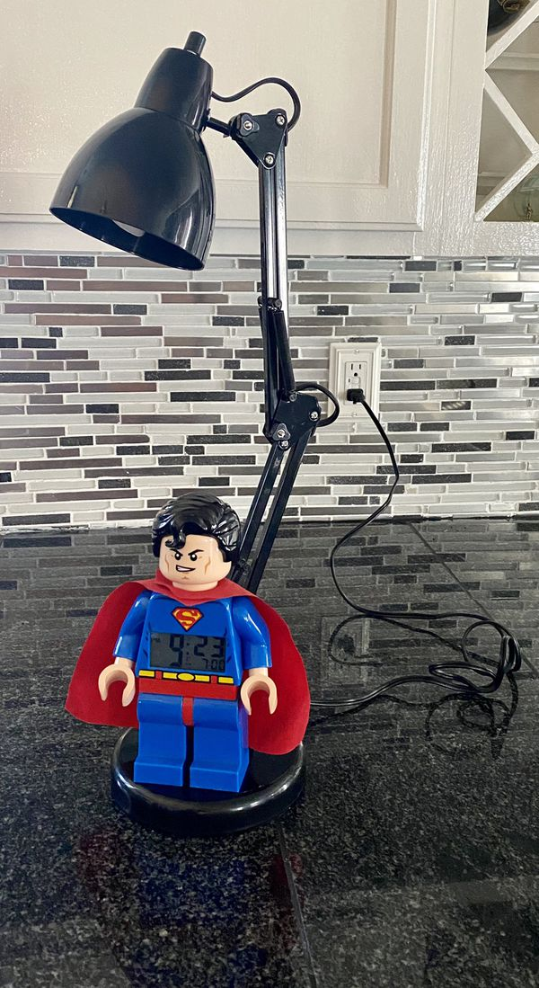 Superman LEGO lamp w/t clock & alarm (one of a kind)