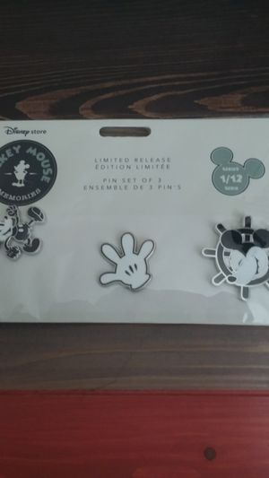 Disney Mickey Mouse Memories Limited Edition Pins Set 1/12 (Sold Out) for Sale in Houston, TX
