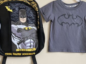 Batman Backpack And Batman Shirt 3T for Sale in Herndon,  VA