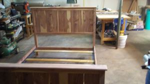Queen size solid cedar bed frame for Sale in Topeka, KS