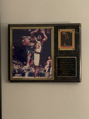 Allen Iverson Plaque and Card 1997 rookie nba for Sale in Miami, FL