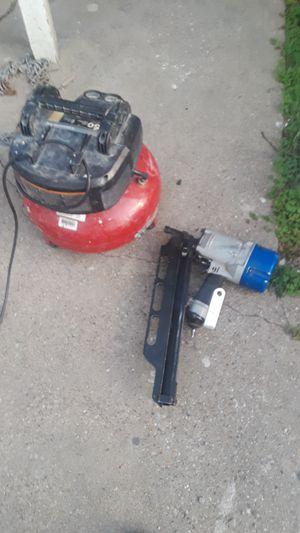 Nailgun and air compressor for Sale in Dallas, TX