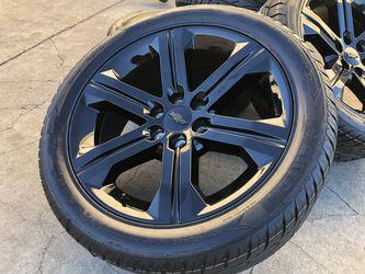 "22"" Chevy Tahoe Wheels Rims Silverado Suburban Tires GMC Sierra Yukon for Sale in Rio Linda,  CA"