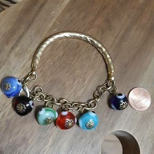 Turkish Hand Blown Glass Evil Eye Charm Bracelet for Sale in Queens, NY