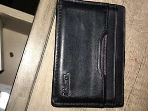 Tumi leather wallet and money clip for Sale in San Diego, CA
