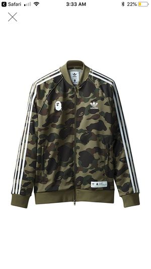 Bape adidas track jacket StockX verified size XL reasonable offer accepted for Sale in Florissant, MO