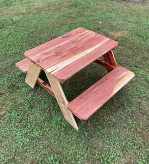 Kids easter red cedar picnic table for Sale in Murfreesboro, TN