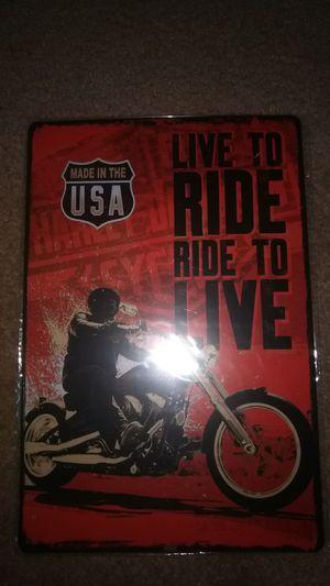 Harley Davidson metal sign for Sale in Wichita Falls, TX