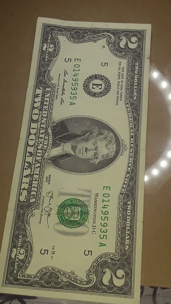 Nice to Dollar Bill error in Number Five is out of ceneter and crooked