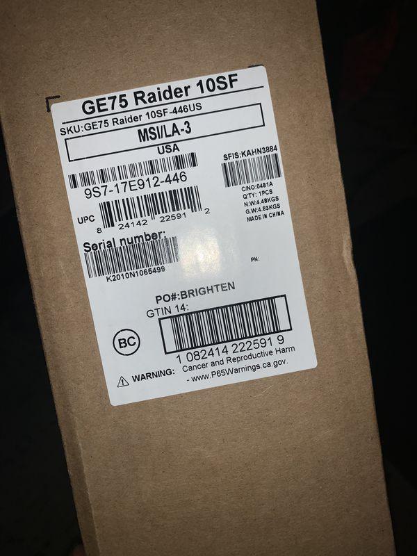 MSI GE75 Raider Gaming Laptop