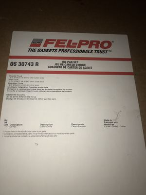 Felpro Oil Pan Gasket Set - Jeep Liberty for Sale in Cleveland, OH