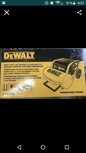Dewalt Heavy Duty 225 PSI Max, 4.5 Gallon Electric wheeled portable compressor. for Sale in Edmonds, WA
