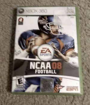 XBox 360 Live NCAA08 Football Video Game for Sale in Wildomar, CA