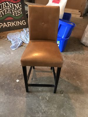 LEATHER BAR STOOL (only 1) for Sale in Maple Heights, OH