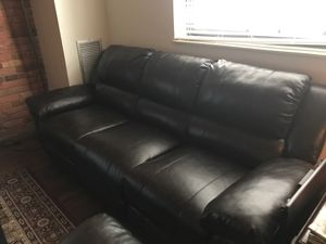 Faux leather living room set full reclining for Sale in Detroit, MI