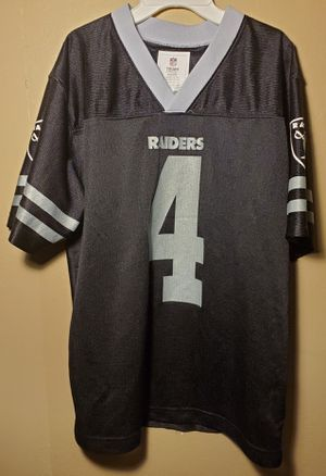 NFL Raiders Carr #4 Jersey Youth Large (12/14) for Sale in Downey, CA