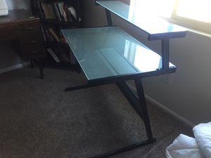 Glass top desk for Sale in Denver, CO