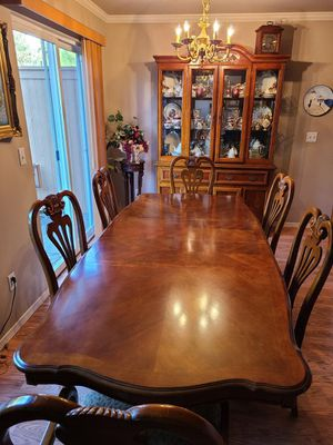 Wooden dining set with buffet for Sale in Everett, WA