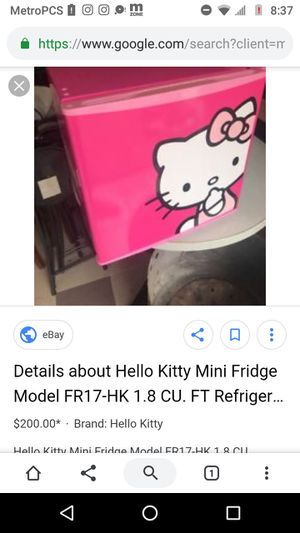 Hello Kitty microwave and mini fridge for Sale in South El Monte, CA
