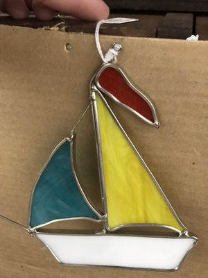 Small Sail Boat Leaded Glass ornament for Sale in Havre de Grace, MD