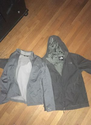 North face 3 in 1 grey winter jacket size medium for Sale in Fort Hunt, VA