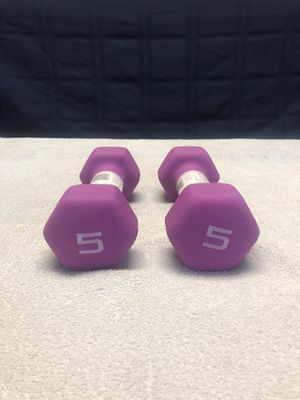 5lb Dumbbells Set for Sale in Martinsburg, WV