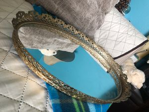 Antique french collectible vanity /table mirror tray for Sale in Fontana, CA
