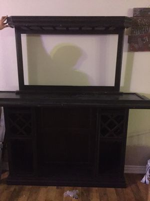 Locking two piece bar / liquor cabinet for Sale in Las Vegas, NV