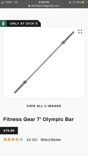 Olympic bar w/ clamps for Sale in Maywood, IL