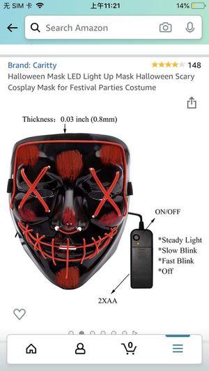 Halloween led mask for Sale in Tucson, AZ