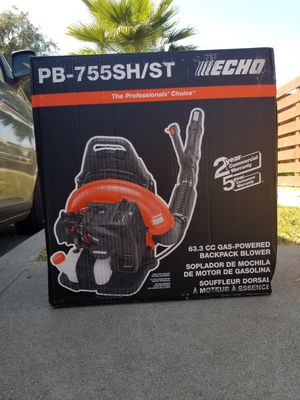 ECHO PB-755SH/ST 233 MPH 651 CFM 63.3cc Gas 2-Stroke Cycle Backpack Leaf Blower with Tube Throttle...precio firme... for Sale in Los Angeles, CA