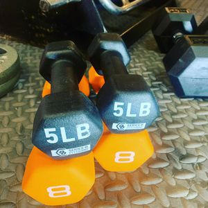 Sets of 5 & 8lbs Dumbbells for Sale in Cleveland, OH