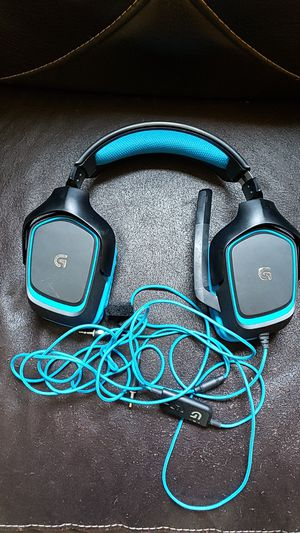 Logitech G430 gaming headphones for computer...used them for 2 weeks and computer broke.. for Sale in Hartford, MI