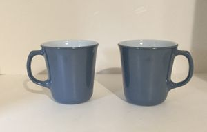 2 Blue Pyrex Milk Glass Coffee Mugs for Sale in Chesapeake, VA