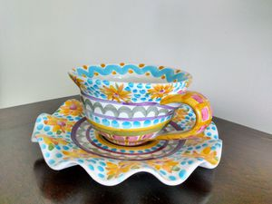 MACKENZIE-CHILDS Cup & Dessert/ Salad/Appetizer Plate for Sale in West Palm Beach, FL
