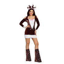 Dreamgirl Women's Cute Deer Me! Animal Costume Dress for Sale in Houston, TX