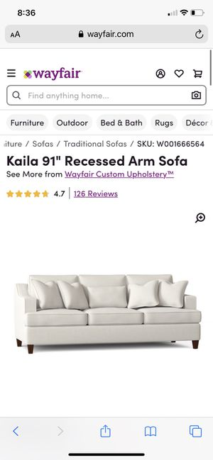 Brand new Kaila 91 sofa from Wayfair. Still in original packaging. Pick up or delivery for $50. Drop off only at the curb $25. Pick up also available for Sale in Dallas, TX