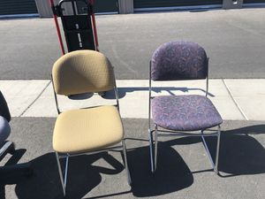 Office Cushion Chairs/2 Left for Sale in Las Vegas, NV